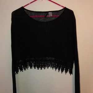Aztec embroidered sweater/ M